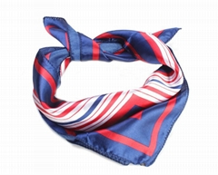 Womens Silk Feel Square Scarf Bandana Neckerchief 50x50cm