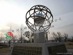 地球儀不鏽鋼雕塑