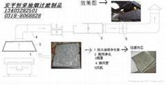 500*500*30/25廚房集煙罩防火油煙過濾器(圖)