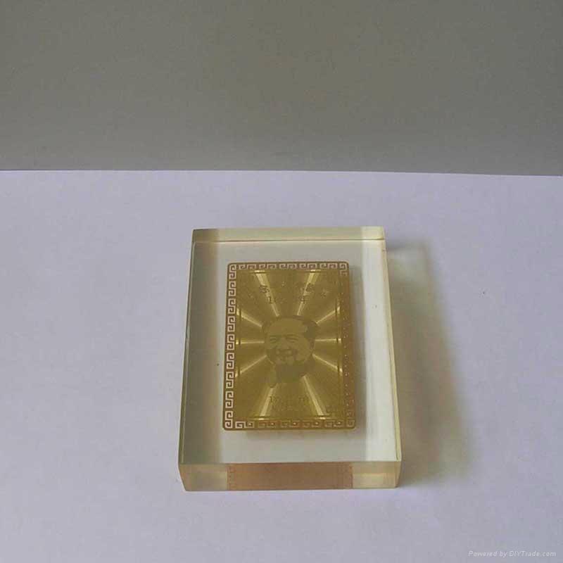 水晶膠內嵌金卡 2