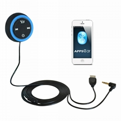 APPS2CAR Bluetooth Car HandsFree Kit for iPhone iPod BlackBerry Smartphones