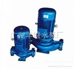 GD清水冷热两用管道型离心式喷淋、冷却管道泵