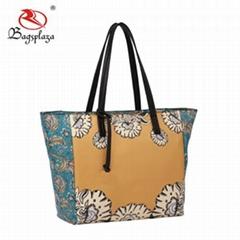 Color Contrasting Alibaba Flower Digital Print designer handbags 2017 handbags