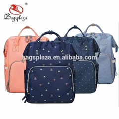 China alibba express wholesale diaper bag waterproof mummy blue backpack diaper
