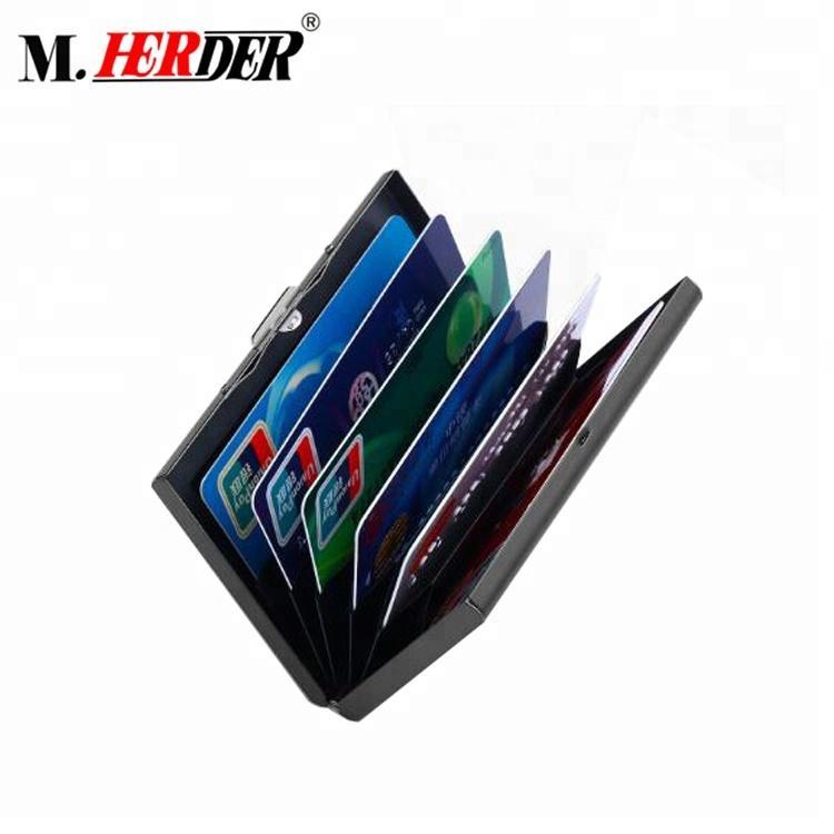 RFID Blocking fine art unisex Credit Card Holder Metal Credit Card Wallet Stainl 3