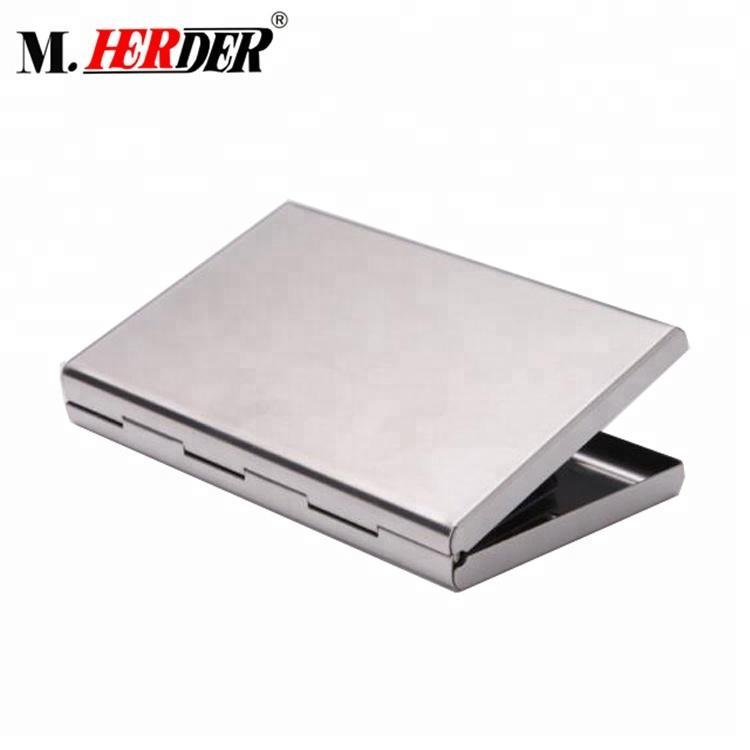 RFID Blocking fine art unisex Credit Card Holder Metal Credit Card Wallet Stainl 4