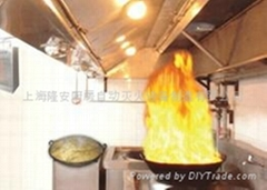 Kitchen flue gas automatic fire extinguishing equipment