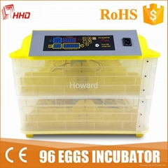 100 eggs CE marked Full automatic mini chicken egg incubator YZ-96