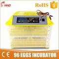 full automatic mini 96 egg incubator