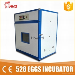 CE approved full automatic quail egg incubator for hatching eggs YZITE-8