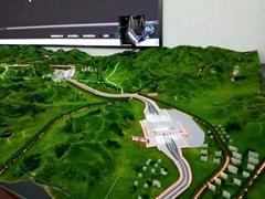 张家口高铁站沙盘模型