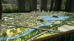 广州南沙知识城规划沙盘模型