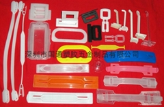 Color box plastic handle button