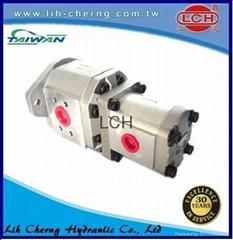 group 4+3 gear pumps hyd