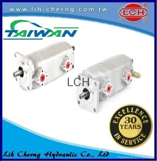 double gear pump tandem gear pumps Hydraulic gear pump 1