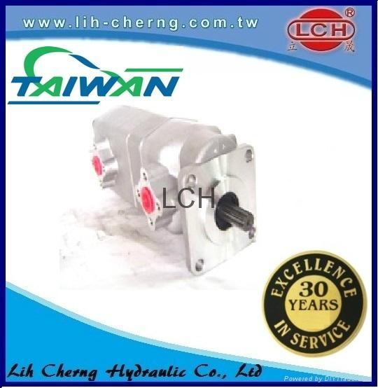 double gear pump tandem gear pumps Hydraulic gear pump 2