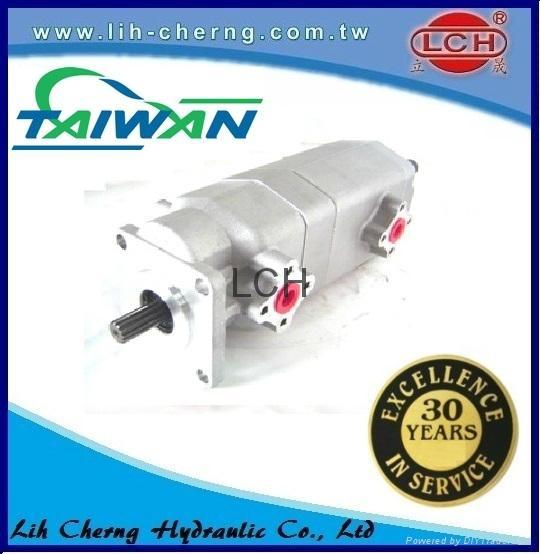 double gear pump tandem gear pumps Hydraulic gear pump 3