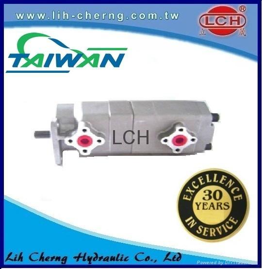 double gear pump tandem gear pumps Hydraulic gear pump 4