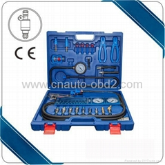 Engine Fuel Pressure Tester test kit with various connectors