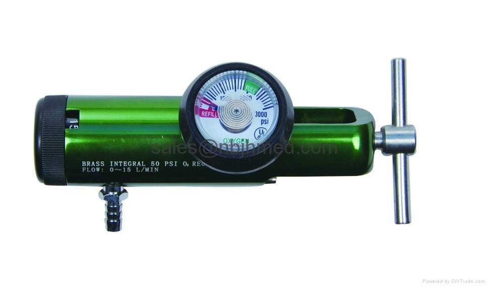 Oxygen Tank Flow Meter Aluminum Oxygen Regulator for