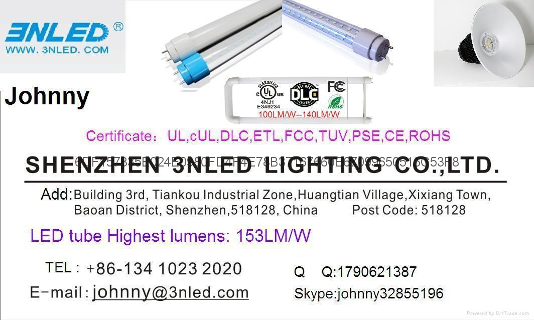 140LM/W DLC UL CE T8  Tube Flicker Free LED Light 1
