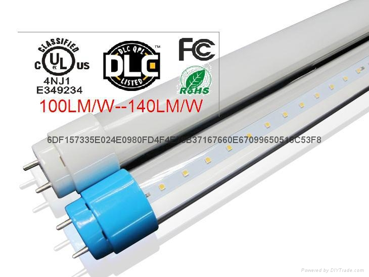 140LM/W DLC UL CE T8  Tube Flicker Free LED Light 4
