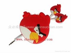 愤怒的小鸟伸缩线耳机