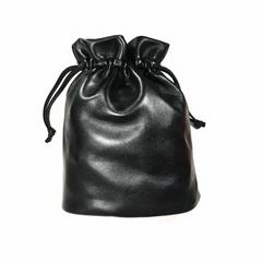 威奇手袋廠新款簡約時尚羊皮束口收納袋定製