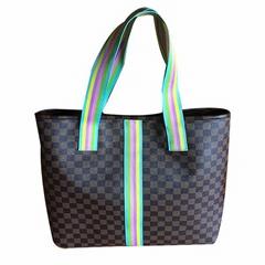 經典方格休閑購物袋|時尚休閑包批發定製