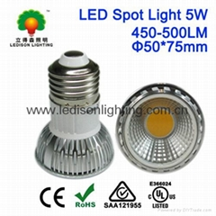 E26 JDR E27 LED Light Spot 5W COB 500LM CE SAA UL Approved
