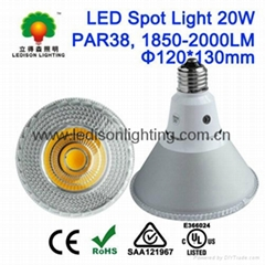 LED Lamp Light PAR38 COB 20W 2000LM E26 E27 PSE UL CUL SAA Listed