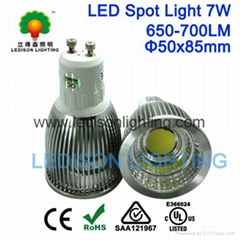 SAA CE UL Approved GU10 7W LED Lamp Spotlight 450-500LM 3 Years Warranty