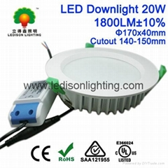 5inch LED Retrofit Kit Downlight 20W Cutout 140mm 150mm 1800LM Frosted Cover