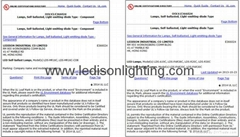 CE SAA UL Approved 5W MR16 GU5.3 LED 12v COB Spotlight 450LM 50x50mm Bulb