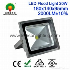 Waterproof IP65 20W LED Flood Light PIR Sensitive RGB Controlling