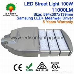 CE SAA UL Approved LED Street Light Lamp 100W Philips LED Meanwell LED Driver