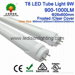 CE SAA ETL Approved 600mm LED Tube Light T8 9W 900-1000LM