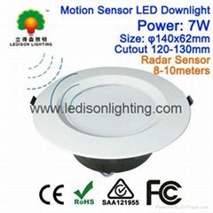 PIR Motion Sensor LED Down Light Bulb 4inch Cutout 120mm 7Watt Warranty 3 Years