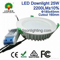 CE SAA UL Listed 6'' Direct Lighting LED Down Light Bulb 25W 160mm Cutout