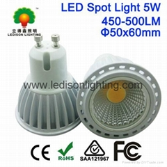 CE SAA UL CUL Approved Natural White Warm White COB 5W LED Spot Light Bulbs GU10 (Hot Product - 1*)
