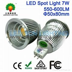 LED Spot Bulb Lighting COB 7W 550-600LM