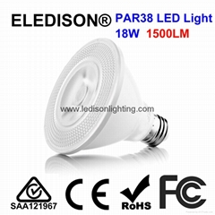 LED Lamp Light PAR38 COB 18W 2000LM E26 E27 PSE UL CUL SAA Listed