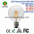 G95 LED Filament Globe Bulb 8W 800LM E26