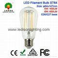 ST64 LED Filament Bulb Globe 6W 600LM