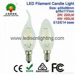 LED Filament Candle Bulb