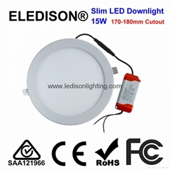 Ultra Thin LED Downlight 15W Panel Light 190x12mm 170mm Cutout