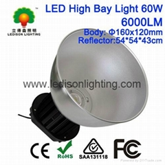 60W LED High Bay Light 6000LM Angle 45/120degrees CE SAA Approved