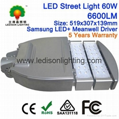 LED Street Light 60W Samsung LED Meanwell Driver