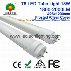 T8 LED Light Tube 18W 1200mm Clear Cover Frosted Cover CE SAA Approved