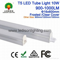 CE SAA UL listed LED Tube Light T5 10W Integrated with Fixture